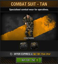 Combat Suit - Tan