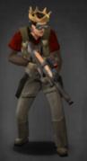 Survivor with suppressed scoped P-90