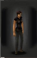 TLSDZ T-Shirt - Black equipped female