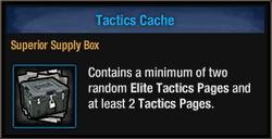 Tactics Cache box - package view