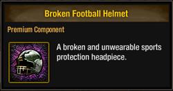 Tlsdz broken football helmet