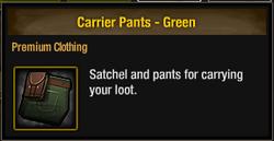 Carrier Pants - Green