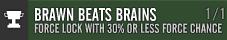 Brawn bears brains