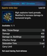 Grenade-m67 shred