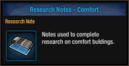 Tlsdz research notes comfort