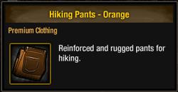 Hiking Pants - Orange