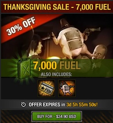 Thanksgiving Sale 2016 - 7000 fuel