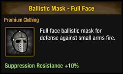 Ballistic mask - full face