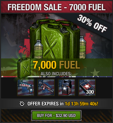 Freedom Sale - 7000 fuel