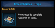Research-note-traps