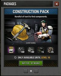 Construction pack