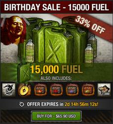 5th Birthday Sale - 15000 fuel