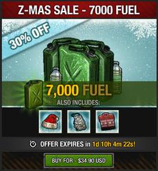 Z-Mas Sale 2016 - 7K fuel