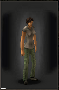 Military Pants - Green equipped female