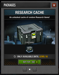 Research Cache package