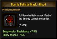 Bounty Ballistic Mask - Blood