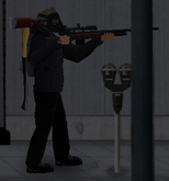 Survivor with hunter compact scoped