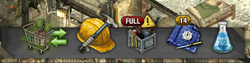 Full inventory warning