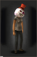 Frightening Frosty Face Mask - equipped female
