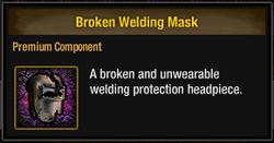 Tlsdz broken welding mask