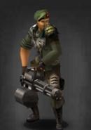 Survivor minigun