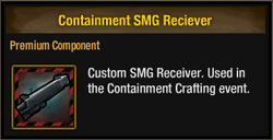 Containment SMG Receiver