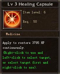 Lv 3 Healing Capsule
