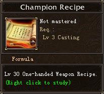 Champion Recipe