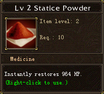 Lv 2 Statice Powder