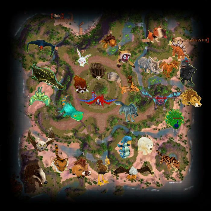 Monsters Map - Pet Island