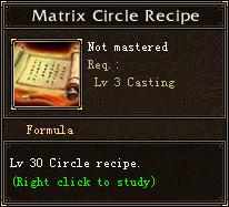 Matrix Circle Recipe