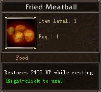 Fried Meatball