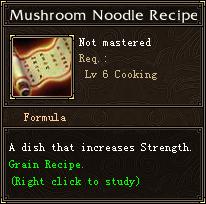 Mushroom Noodle Recipe