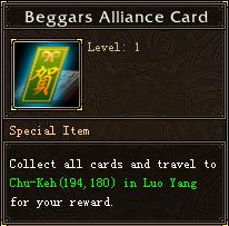 Beggars Alliance Card