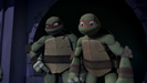 Raph and Mikey smiling