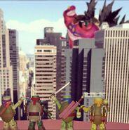 Mega Shredder Vs Ninja Turtles