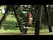 April on the swing