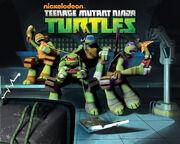 Teenage Mutant Ninja Turtles Nickolodien Pizza Eating Poster