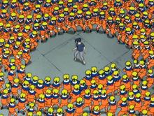 Naruto clones vs Sasuke