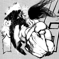 Shachi punches Kaneki