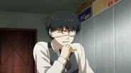 Kaneki practicing eating human food