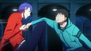Shuu Tsukiyama breaking Kaneki's arm