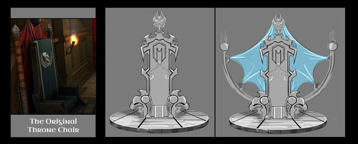 Our in-house artists, either Adiart or Xed, mock up a 2D concept