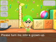 Mii when given an Age-o-matic