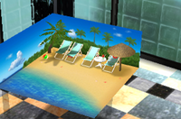 Room Tropical beach