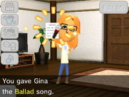 Giving a Mii a ballad song