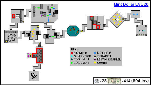 Mint Maps - Dollar - LVL20