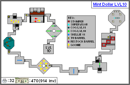 Mint Maps - Dollar - LVL10