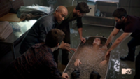 Teen Wolf Season 3 Episode 2 Daniel Sharman Tyler Posey Dylan O'Brien Tyler Hoechlin Seth Gilliam Animal Clinic Ice Bath