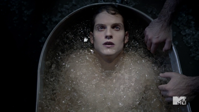 Teen Wolf Season 3 Episode 2 Daniel Sharman Isaac Ice Bath